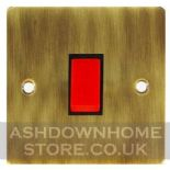 Flat Plate Antique Bronze Cooker Switches & Sockets